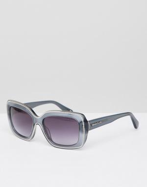 Солнцезащитные очки в серой квадратной оправе Christian Lacroix-Золотой La Croix