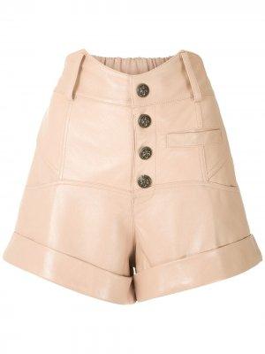 Кожаные шорты Riley Andrea Bogosian. Цвет: нейтральные цвета