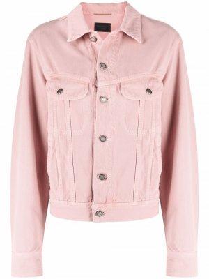 Джинсовая куртка Saint Laurent. Цвет: розовый