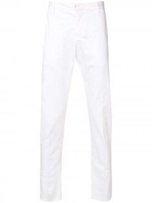 Классические брюки чинос Dondup. Цвет: белый