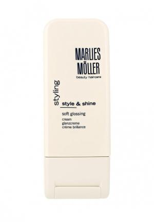 Крем для укладки Marlies Moller StylIng выпрямления волос 100 мл. Цвет: белый