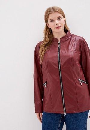 Куртка кожаная JP. Цвет: бордовый