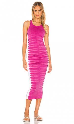 Платье миди flame Michael Stars. Цвет: розовый