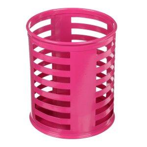 Стакан для пишущих принадлежностей круглый металл розовый Calligrata