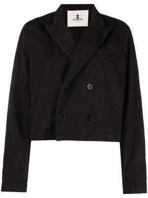 Двубортная джинсовая куртка Barena. Цвет: черный