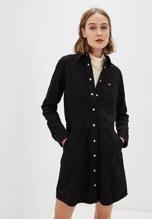 Платье джинсовое Calvin Klein Jeans. Цвет: черный