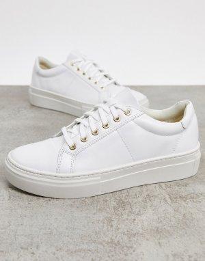 Белые кожаные кроссовки Zoe-Белый Vagabond