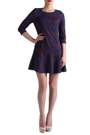 Платье EVA Milano. Цвет: красный