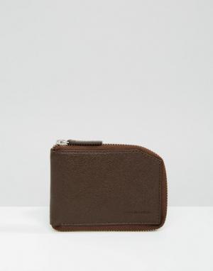 Коричневый бумажник на молнии Fuze Royal RepubliQ. Цвет: коричневый