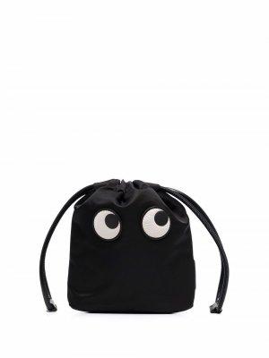 Мини-сумка Eyes Anya Hindmarch. Цвет: черный