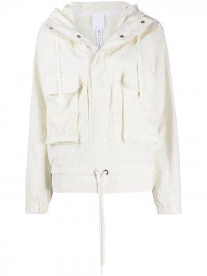 Куртка с капюшоном из коллаборации Victoria Beckham Reebok x. Цвет: нейтральные цвета