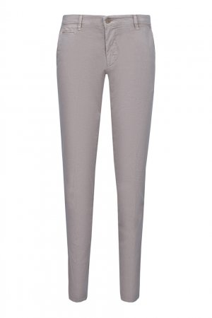 Зауженные серые брюки со стрелками Baldessarini. Цвет: бежевый