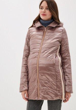 Куртка утепленная I Love Mum Мокко. Цвет: коричневый