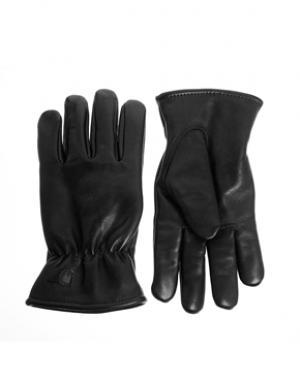 Кожаные перчатки Carhartt. Цвет: черный