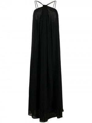 Декорированное платье с вырезом халтер Erika Cavallini. Цвет: черный