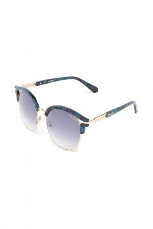Очки солнцезащитные Balmain. Цвет: зеленый
