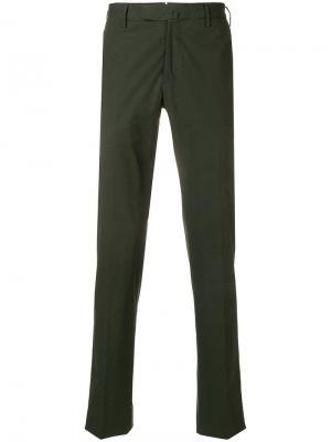 Брюки-чинос Incotex. Цвет: зеленый