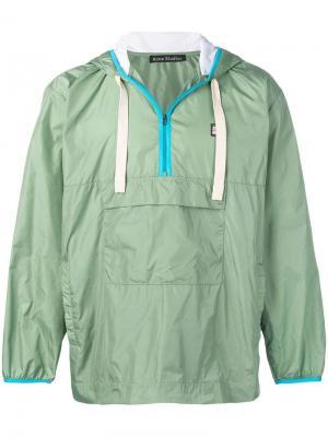 Куртка с капюшоном Acne Studios. Цвет: зеленый