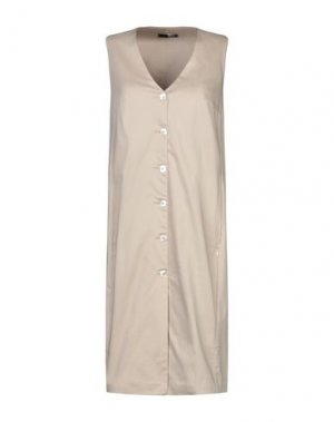 Платье до колена B.YU. Цвет: бежевый