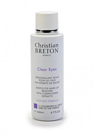 Средство для снятия макияжа Christian Breton Paris области глаз, 200 мл. Цвет: белый