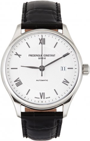 Black & Silver Classics Index Watch Frédérique Constant. Цвет: silver/navy