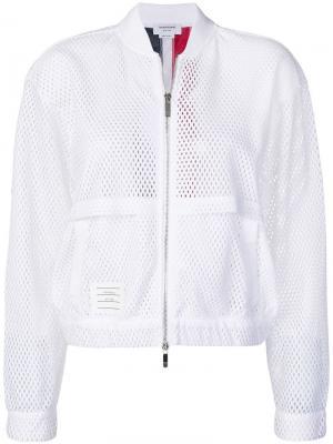 Куртка-бомбер с тремя полосками на спине Thom Browne