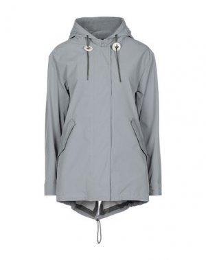 Легкое пальто HETREGO'. Цвет: серый