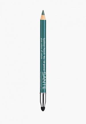 Карандаш для глаз Sante 10 Зеленый. Цвет: зеленый