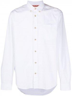 Поплиновая рубашка Acne Studios. Цвет: белый