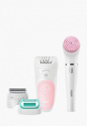 Эпилятор Braun Silk-epil 5 Beauty Set SES 5/875. Цвет: белый