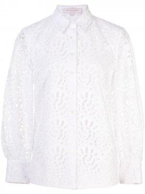 Рубашка с узором Carolina Herrera. Цвет: белый