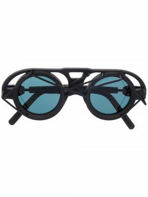 Солнцезащитные очки-маска T10 Kuboraum. Цвет: черный