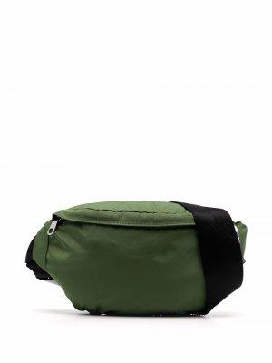 Поясная сумка с нашивкой-логотипом A.P.C.. Цвет: зеленый