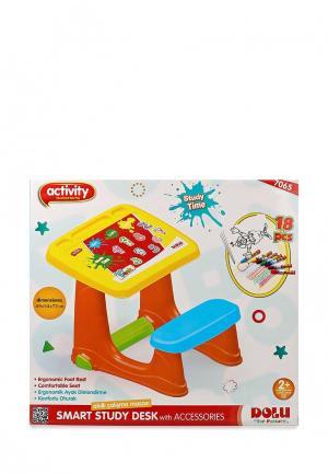 Набор игровой Dolu Парта со скамейкой. Цвет: разноцветный