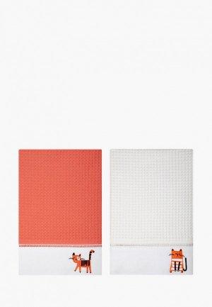 Набор полотенец кухонных Bellehome Cute Kittens, 50х70 см. Цвет: разноцветный