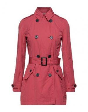 Легкое пальто AQUASCUTUM. Цвет: кирпично-красный