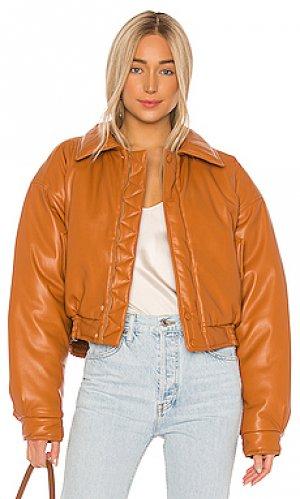 Куртка бомбер bomi Nanushka. Цвет: оранжевый