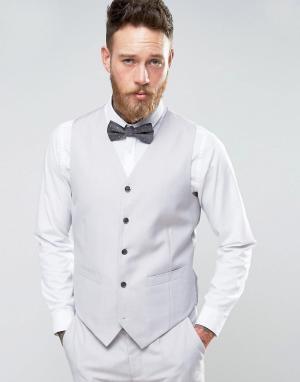 Серый приталенный жилет Wedding Devils Advocate. Цвет: серый