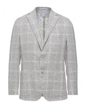 Пиджак BARBA Napoli. Цвет: светло-серый