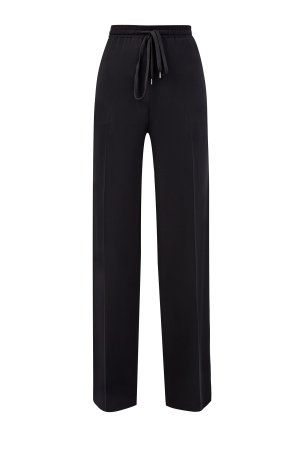 Струящиеся брюки-клеш с эластичным поясом ERMANNO SCERVINO. Цвет: черный