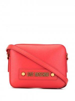 Большая сумка через плечо Love Moschino. Цвет: розовый