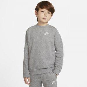 Свитшот из ткани френч терри для мальчиков школьного возраста Nike Sportswear - Серый