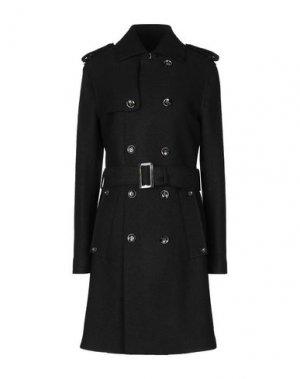 Пальто PAOLO PECORA. Цвет: черный