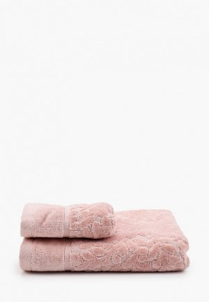 Набор полотенец Shining Star. Цвет: розовый