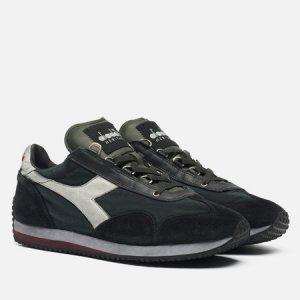 Мужские кроссовки Equipe Dirty Stone Wash Diadora Heritage. Цвет: чёрный