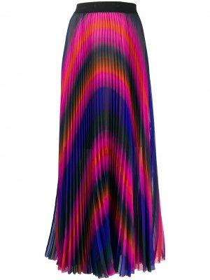 Юбка макси со складками Escada Sport. Цвет: розовый