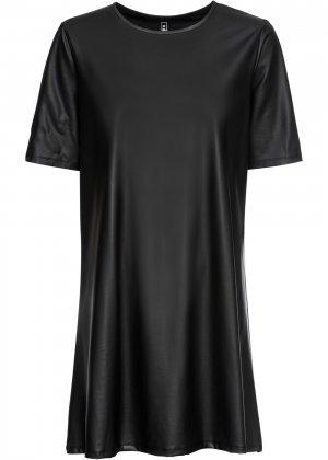 Платье из искусственной кожи bonprix. Цвет: черный