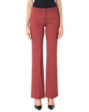 Повседневные брюки HANITA. Цвет: ржаво-коричневый