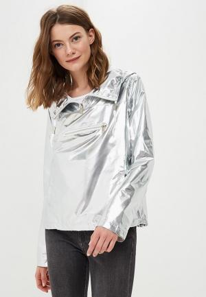Ветровка B.Style. Цвет: серебряный