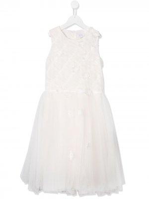 Платье из тюля без рукавов Aletta. Цвет: белый